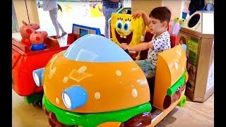 Little Boy Ride on Car Having Fun Playing