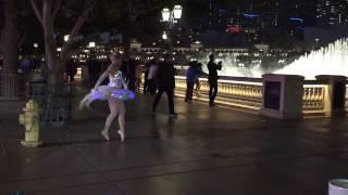 Las Vegas Street Ballerina Anna Allen - Bellagio Fountains, Las Vegas