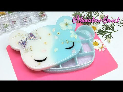 Miniature Sweet- Kawaii Bear storage/jewelry  box- Resin- Tutorial