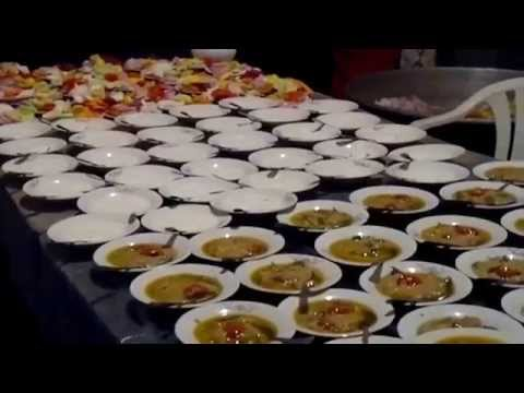 Hyderabadi style food at a Kitchen for a Valima Reception in Hyderabad