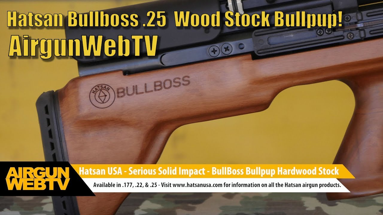 Hatsan Bullboss Wood Stock  25 and Optima First Focal Plane 4-16x50 Scope -  Video by AirgunWebTV