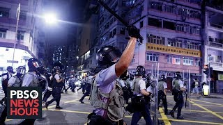 With buildup of forces on border, China displays waning tolerance for Hong Kong protests