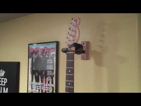 Hang Guitar On Wall guitar wall hangers: a simple demo of how to hang your guitar on