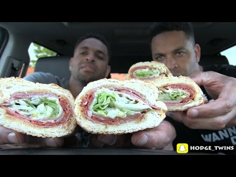 Eating Italian Sub | Potbelly Sandwich Shop | Food Review | @Hodgetwins