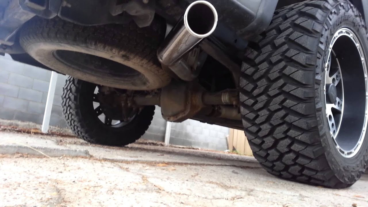 2010 F150 Fx4 5 4 3in Straight Pipe Youtube