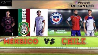 pes 2020   CHILE VS MEKSIKO   gameplay psp ( anjar malvin )