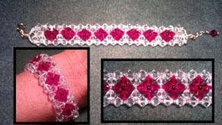 Beading4perfectionists : 6mm Swarovski bracelet tutorial