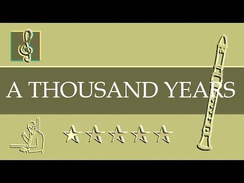 Recorder Notes Tutorial - A Thousand Years - Christina Perri  (Sheet music)