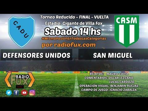 Defensores Unidos vs. San Miguel en VIVO - FINAL - VUELTA