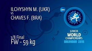 1/8 FW - 59 Kg: M. ILCHYSHYN (UKR) Df. F. CHAVES (BRA) By TF, 10-0