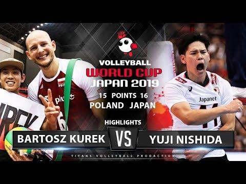 Bartosz Kurek vs Yuji Nishida | Poland vs Japan | Highlights | Men's Volleyball World Cup 2019