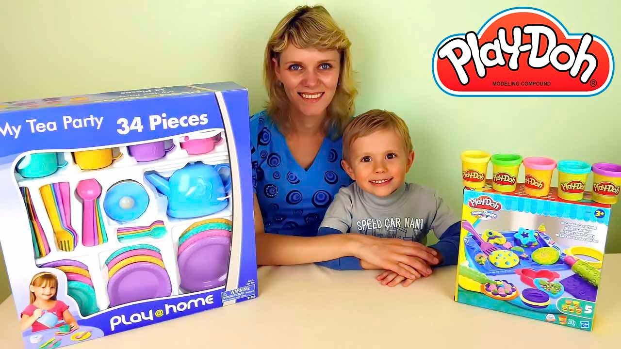 Весёлая кухня Play Doh для детей с Даником и его мамой - Развлекательное детское видео с Play Doh