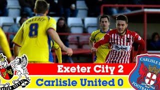 Exeter City 2-0 Carlisle United (13/12/14) - Sky Bet League 2 Highlights 2014/15