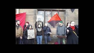Antifascist mobilization at Glasgow University