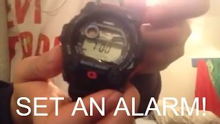 How to set an Alarm on a G-SHOCK Watch