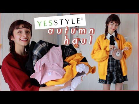 🍂 Korean & Japanese Autumn Fashion Haul & Try On || Yesstyle 🍂