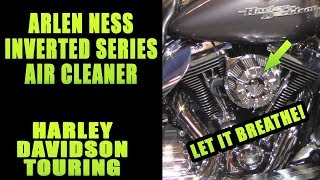 Add Show Winning Chrome Arlen Ness Inverted Air Cleaner Harley Davidson Touring