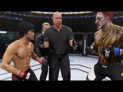 Bruce Lee Vs. Fiery Demon (EA Sports UFC 2) - Crazy UFC 👊🤪