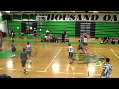Thousand Oaks High School Boys Basketball - Green & White Ga