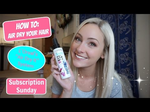 L'Oreal - Air Dry It System~ Influenster ~ Subscription Sunday - UNBOXING & REVIEW