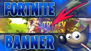 Fortnite Banner Template with Gimp | Free Template | raaame - Designs