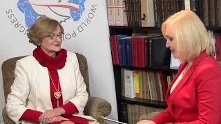 Lidia Bąk i dr.Krystyna Krzekotowska - Światowy Kongres Polaków/Bal/współpraca medialna