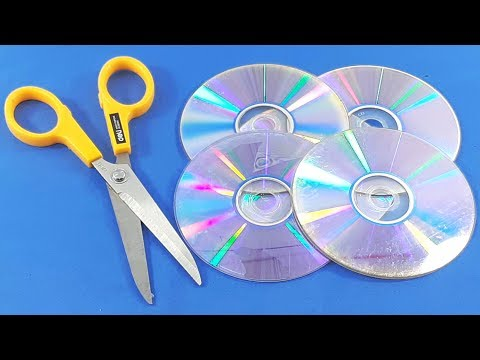 Waste cd disc reuse idea | Best out of waste | DIY arts and crafts | recycling cd disc craft