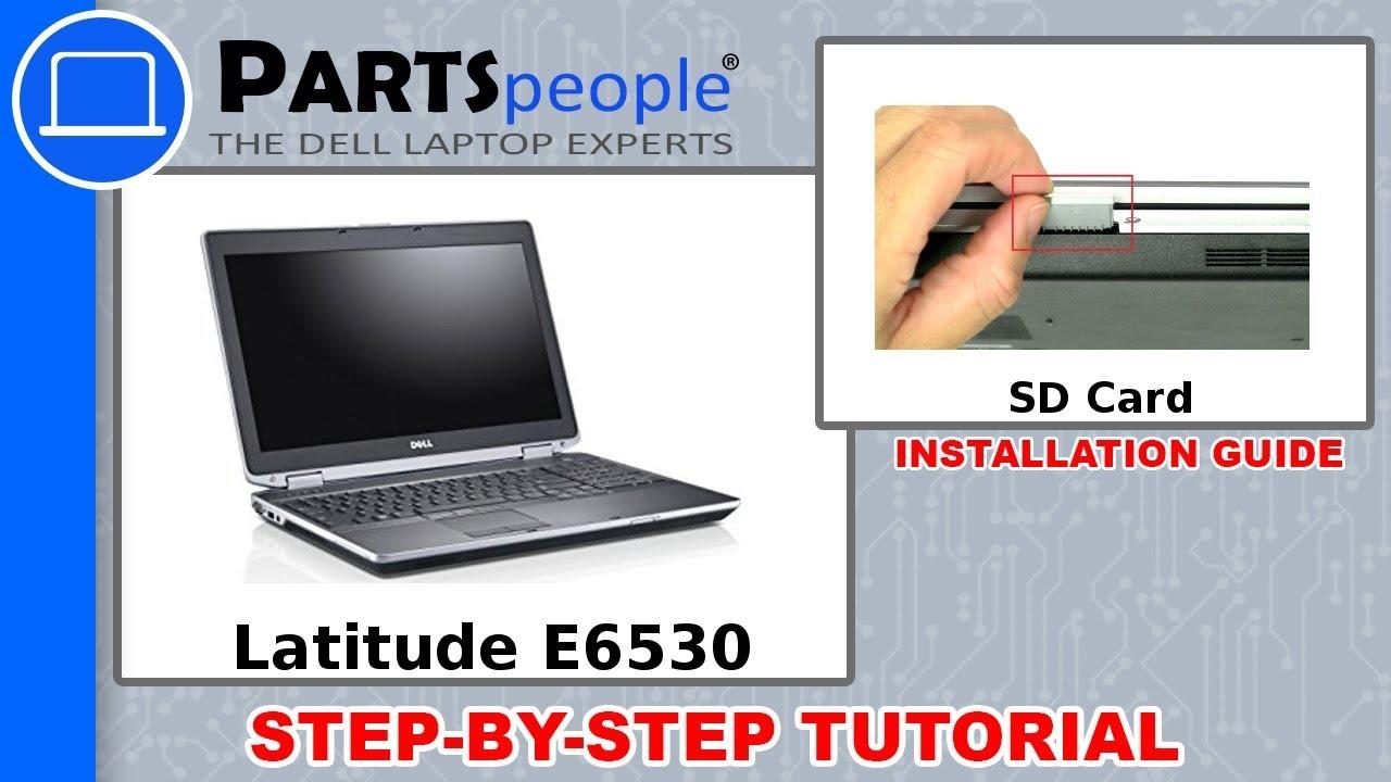 Dell Latitude E6530 (P19F001) SD Card How-To Video Tutorial