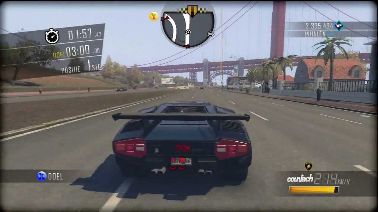 Driver San Francisco Lamborghini Countach Lp400s Gameplay Movie Challenge Xbox 360 Ps3