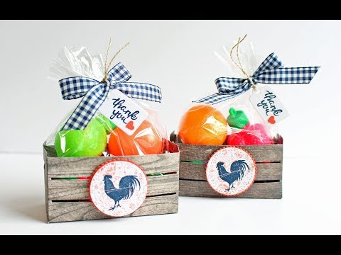 Stampin Up Wood Crate with Candy Fruits