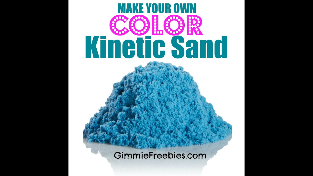 make your own colored kinetic sand for 50 cents homemade moon sand youtube. Black Bedroom Furniture Sets. Home Design Ideas