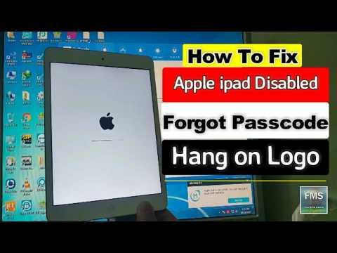 Apple ipad Disabled,Forgot Passcode,Hang on Logo Fix 2018