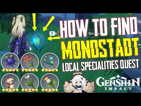 ALL MONDSTADT LOCAL SPECIALITIES LOCATIONS (BATTLE PASS QUEST) - GENSHIN IMPACT TIPS & TRICKS