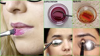 🧐Testing Out Viral Makeup Hacks By 5 Minute Crafts Does it Really Works!!🤔 #beauty#makeup#hacks