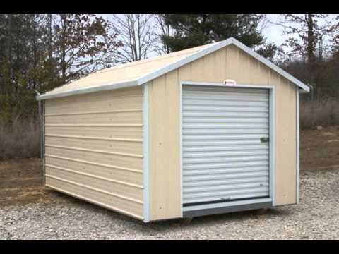 Quick assembly portal steel frame small storage shed