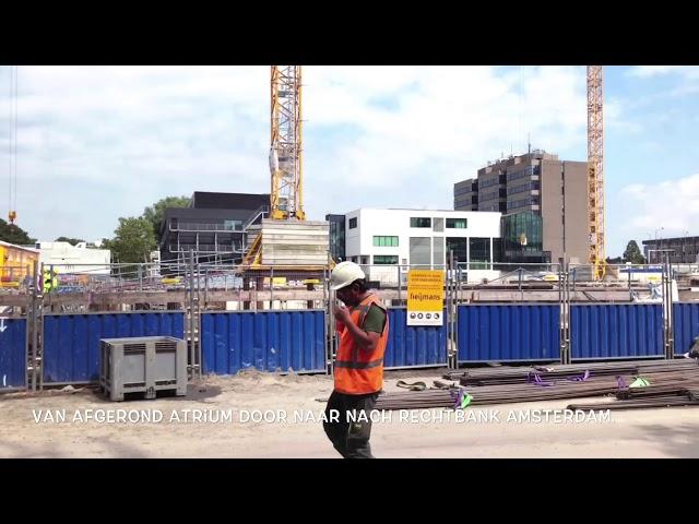 Pegasus op de bouw bij WTC amsterdam MJ de Nijs, Dura Vermeer.