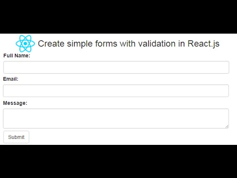 Create simple forms with validation in React js | DotNet