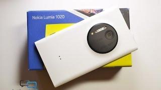Распаковка Nokia Lumia 1020 в белом цвете (unboxing)