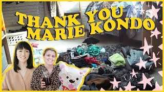 I Marie Kondo'd the heck out of my walk in closet | closet transformation