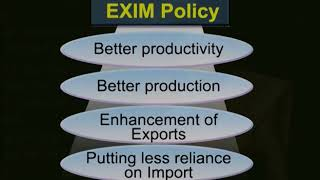 Export Import Policy Part 1