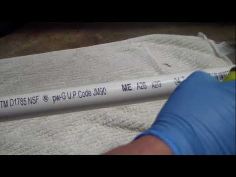 Remove markings from PVC pipe