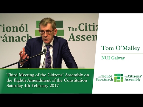 Tom O'Malley, NUI Galway - Session 2: Rape - Legal Issues - Citizens' Assembly - Feb 4