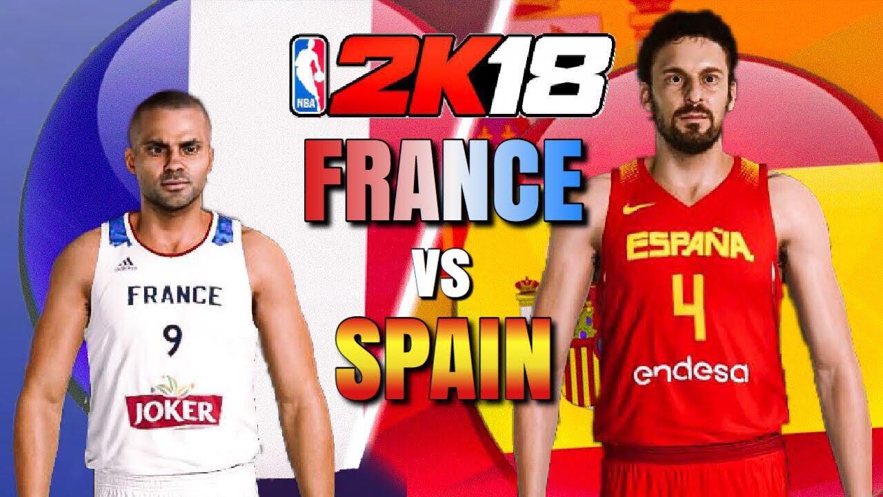 FIBA 2K18 - France vs Spain - NBA 2K18 - YouTube e9f5da78e