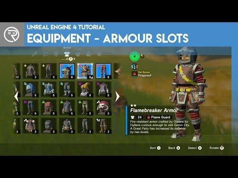 Unreal Engine 4 Tutorial - Equipment - Part 3 Armour Slots