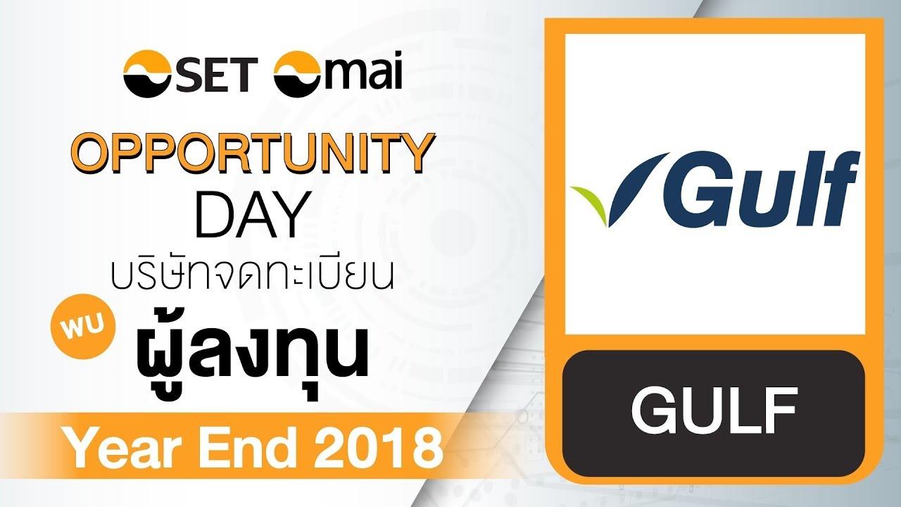 Oppday Year End 2018 บริษัท กัลฟ์ เอ็นเนอร์จี ดีเวลลอปเมนท์ จำกัด (มหาชน) GULF