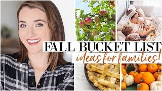 Fall Family Activity Ideas 2019 | MY FALL BUCKET LIST + GOALS FOR THE SEASON | Natalie Bennett