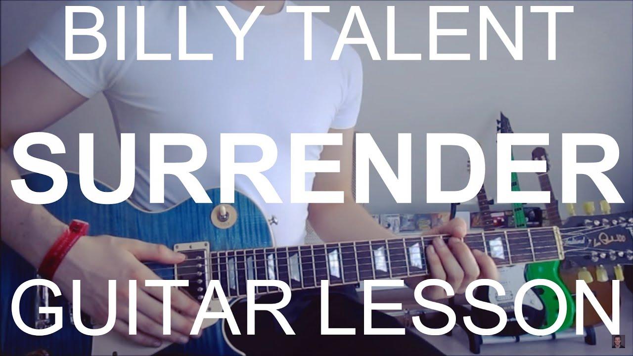 billy talent surrender guitar tutorial lesson 8 youtube. Black Bedroom Furniture Sets. Home Design Ideas