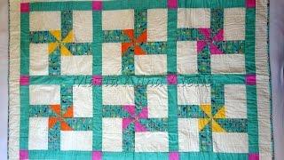 Patchwork Maria Adna - Manta infantil em patchwork Os Cataventos - Aula e técnica de patchwork