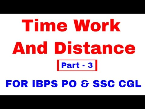 Time Speed and Distance For IBPS PO | SSC CGL [In Hindi] Part 3