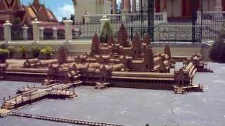 Angkor Wat model at the royal palace Phnom Penh Cambodia